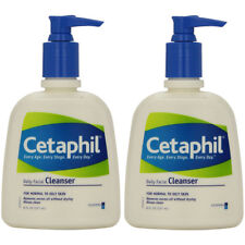2 Pack - Cetaphil Daily Facial Cleanser For Normal To Oily Skin 8oz Each