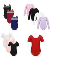 Kids Girls Ballet Dance Leotard Gymnastics Jumpsuit Stretchy Bodysuits Unitards