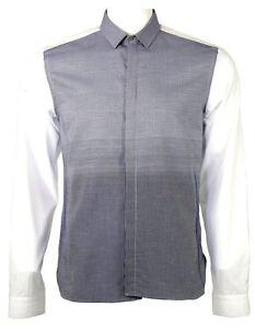 Neil Barrett gradient weave slim fit shirt navy