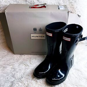 NIB From NordstromHunter Original Womens Short Rain Boots Size 9  -Black Gloss-