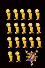 Filipino Philippines Lakers Los Angeles championship 2020 17 trophies Back S-XxL