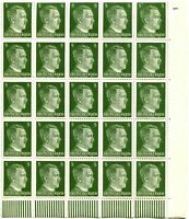 GERMANY Sc# 509 Corner Block of 25 Stamps Postage WWII Adolf Hitler Mint NH OG