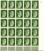 GERMANY Sc# 509 Corner Block of 25 Stamps Postage WWII Adolf Hitler Mint NH OG