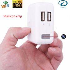COVERT HIDDEN SPY Plug 1080p CCTV WIFI Clear Vision Network Cam Camera Bug