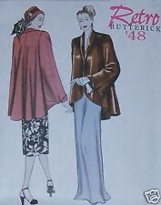 1948 Retro WRAP JACKET sz 8-14 perfect over gown EASY