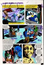 1981 Gene Colan Captain America Annual 5 page 35 Marvel Comics color guide art Comic Art