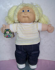 """rare #2 freckled 1983 CABBAGE PATCH KIDS 16"""" doll with HAND TAG - coleco"""