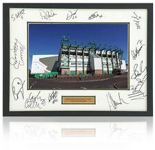 HIBERNIAN F.C. Squad Hand Signed 16x12 Presentation AFTAL Photo Proof COA