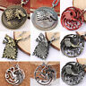 Game of Thrones Haus Stark Targaryen Drachen Anhänger Kette Halskette Schmuck
