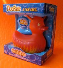 Ducksin Devilish Devil Red Rubber Rubba Duck NIB Gift Box