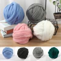 250g DIY Chunky Wool Yarn Super Soft Bulky Arm Knitting Roving Crocheting Yarn