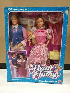 VTG Mattel Heart Family New Arrival Set Pregnancy Mommy Daddy 2415 Barbie Ken