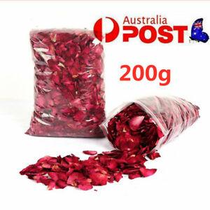 200g Organic Dried Red Rose Petals Wedding Party Decor Baking Potpourri Craft AU
