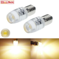 2 x WARM WHITE 24 VOLT 24V CLASSIC COMMERCIAL LED INSTRUMENT GAUGE BULBS E10 MES