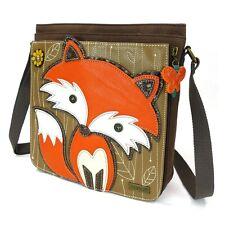 Chala Handbag Deluxe Messenger Bag with Detachable Tablet Sleeve (Fire Fox)
