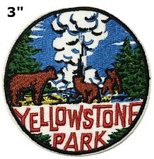 Yellowstone National Park Patch Embroidered Iron / Sew-On Souvenir Applique