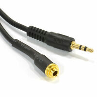 15cm Panel Mount 3.5mm Male to Female Locking Nut Stereo Adapter Cable [007594]