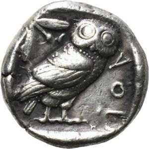 DIONYSOS Attika Athen AR-Tetradrachme Eule #ML 1518