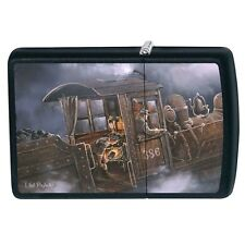 ZIPPO BUILDING UP STEAM TRAIN by ARTIST TED BLAYLOCK LIGHTER NEW