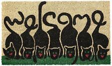 """Cats Welcome Doormat, 30""""x 18"""" Multi Color Outdoor/Front Door/Bathroom Mats"""