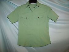 Canyon River Blues Solid Green Short Sleeve Polyester Shirt Size S Juniors