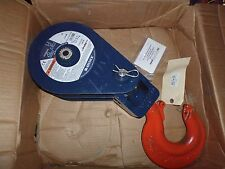 """NEW McKISSICK CROSBY 104185 12-Ton 12T TACKLE SNATCH BLOCK SHEAVE HOOK 408 8""""BB"""