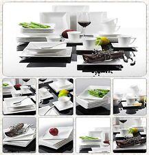 30PCS onde carrée porcelaine vaisselle céramique service de table ensembles tasses assiettes