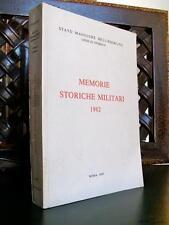 Stato Maggiore Esercito MEMORIE STORICHE MILITARI libro storia esercito  Index