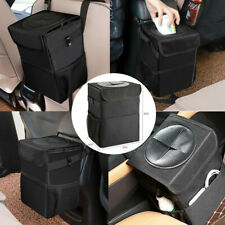Car Dust Bin Storage Bucket Trash Can Container Garbage Bag Organizer With Lid