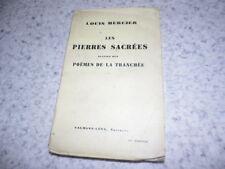 1939.Pierres sacrées suivies des poèmes de la tranchée.14-18.Louis Mercier