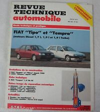 Revue technique automobile RTA 527 1991 Fiat tipo tempra diesel 1.7 1.9 l turbo