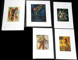 Marc Chagall (5) Small Prints ( Titles Unknown)