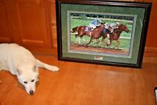 """CELESTE SUSANY """"THE CLASSIC"""" BREEDERS CUP FRAMED RACE HORSE PRINT L/E #495/495"""