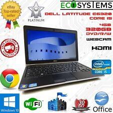 """Dell Latitude E6320 Laptop i5-2520m 2.5Ghz 4GB 320GB WebCam DVDRW HDMI 13.3"""""""