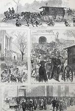 The Trial Of Charles Jules Guiteau. Scenes. Views.  Wood Engraving, 1881.