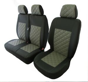 VOLKSWAGEN VW T4 1999-2003 RHD or LHD GREY ECO LEATHER Seat Covers 2+1