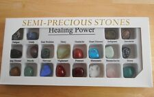 BOXED SET OF 20 DIFFERENT TUMBLESTONES - HEALING POWER 18mm-20mm in Size - OFFER