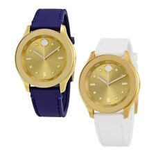 Movado Bold Gold Dial Silicone Ladies Watch - Choose color