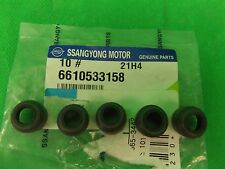GENUINE SSANGYONG MUSSO SUV 2.9L T/D ALL MODEL INTAKE VALVE STEM SEAL PACK(5EA)