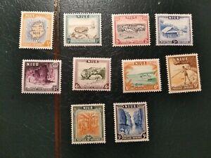 Lote sellos Niue Nuevos Con Charnela