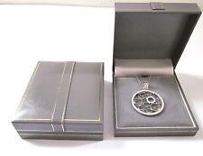 Grigio in similpelle Pendente collana gioielli regalo box-greyvelvet FODERA GOLD TRIM
