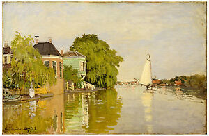 "Impressionism ""Houses on the Achterzaan"" Claude Monet ca. 1871"