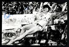 Leslie Caron foto original firmado # bc 20500