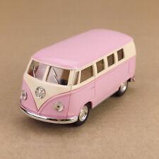 1962 Volkswagen VW Hippy Van Bus Kombi Microbus T2 Pink 1:32 13cm Diecast Model