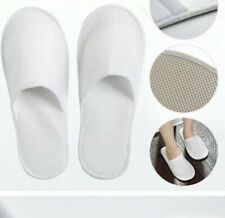 2 PAIRS SPA GIFT GUEST SLIPPERS TOWELLING WHITE TERRY STYLE. BRAND NEW