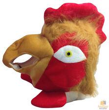 CHICKEN HAT Animal Mask Prop Halloween Rooster Head Party Headgear Warm Fancy