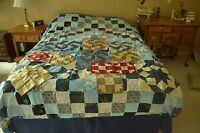 """14 Antique 8"""" to 15"""" Hand-Pieced Quilt Squares, Ready-to-Sew, M66"""