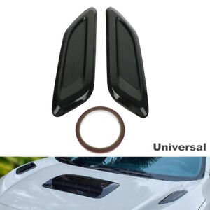 Hood Scoop Car Hood Vents Fake Outlet Sticker Air Vent Louver Cooling Panel Trim