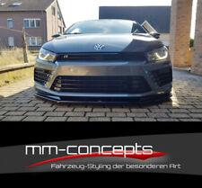 Cup Spoilerlippe SCHWARZ für VW Scirocco R Facelift Frontspoiler Spoilerschwert