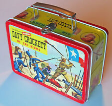 Davy Crockett Metal Lunchbox Walt Disney Official 1955 ADCO Liberty Corp. USA